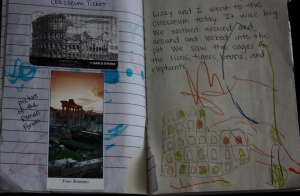 Rome Journal with Mementos