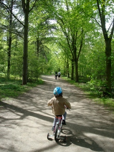 Biking in the Bois de Bologne